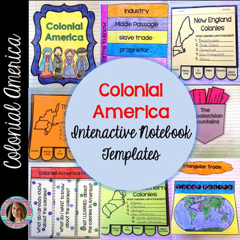 Colonial America Interactive Notebook Templates