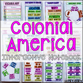 Colonial America Interactive Notebook and Graphic Organizers