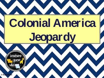 Colonial America Jeopardy