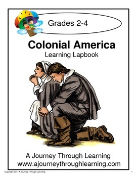 Colonial America Lapbook with Study Guide