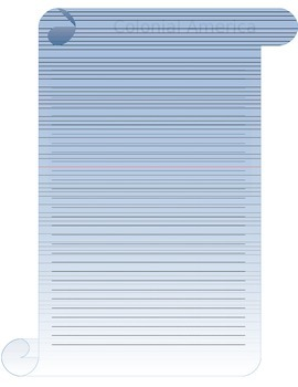 Colonial America Letter Writing Template Scroll