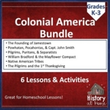 Colonial America History BUNDLE for K-3, Distance Learning, and Homeschool