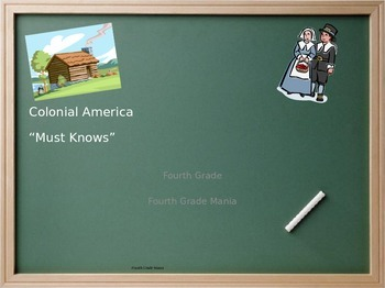 """Colonial America """"Must Knows"""" for Students (Notes)"""