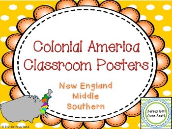 Colonial America New England Middle Southern Colonies Clas