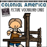 Colonial America Picture Vocabulary Cards