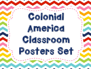 Colonial America Poster Set