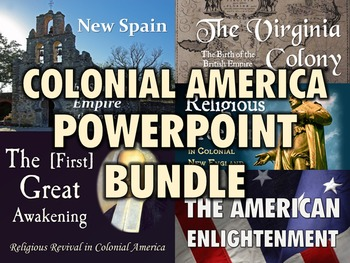 Colonial America PowerPoint Bundle