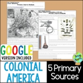 Colonial America Primary Sources; Distance Learning; Digit