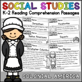 Colonial America Reading Comprehension Passages K-2