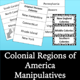 Colonial America Regions: Manipulatives