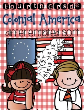 13 Colonies & Colonial America Sort {Differentiated Intera