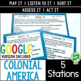 Colonial America Station Activities, 13 Colonies Stations