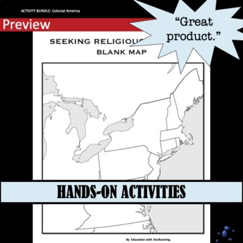 American Colonies Station Activity Bundle for Colonial America Unit