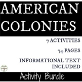 American Colonies Station Activity Bundle for Colonial Ame