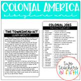 Colonial America Storyline Unit