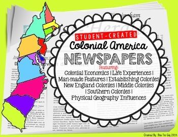 13 Colonies & Colonial America Student Created Newspapers