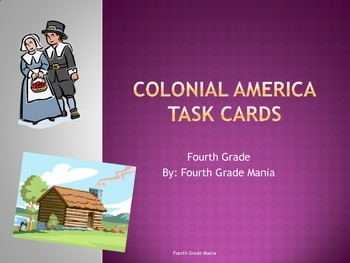 Colonial America Task Cards