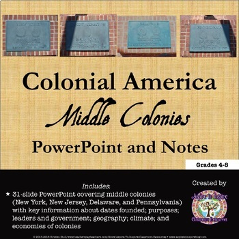 Colonial america the middle colonies powerpoint tpt colonial america the middle colonies powerpoint toneelgroepblik Image collections