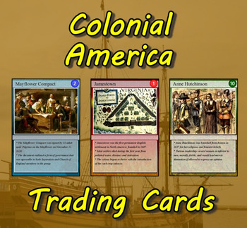 Colonial America Trading Cards