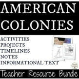 American Colonies Activities, Project, Notes Teacher Resource Bundle