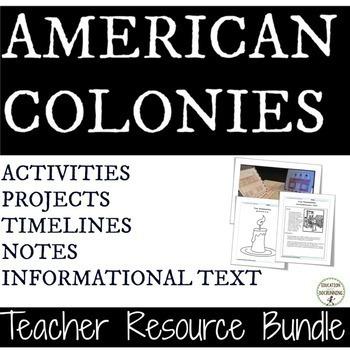 American Colonies Teacher Resource Bundle