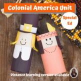 Colonial America Unit for Special Ed for google classroom