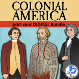 Colonial America Unit with Informational Text & Lapbook