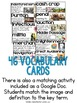Colonial America Vocabulary Cards, Colonial America Word Wall