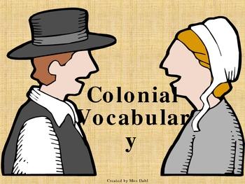 Colonial America Vocabulary Game