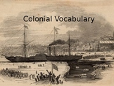 Colonial America Vocabulary Powerpoint