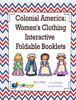 Colonial America:  Women's Clothing Interactive Foldable Booklets
