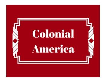 Colonial America Word Wall