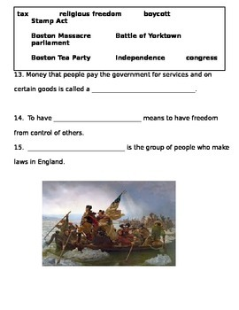 Colonial America and the American Revolution Test