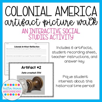 Colonial American Artifacts Picture Walk