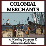 COLONIAL MERCHANTS, SHOPKEEPERS, AND PEDDLERS - Reading Passages and Activities