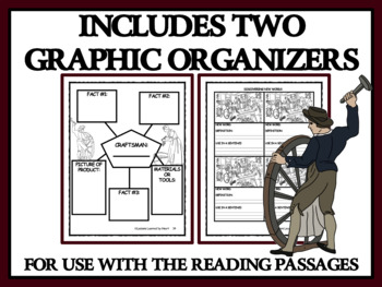 COLONIAL CRAFTSMEN, BUNDLE 2 - Reading Passages & Classroom Activities
