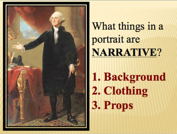 Colonial American Portraits PowerPoint - art common core content