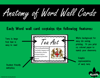Colonial America & The Revolution Word Wall