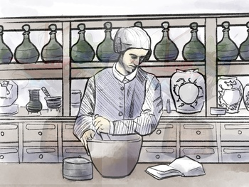 Colonial Apothecary Clipart