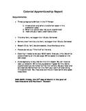 Colonial Apprentice Report