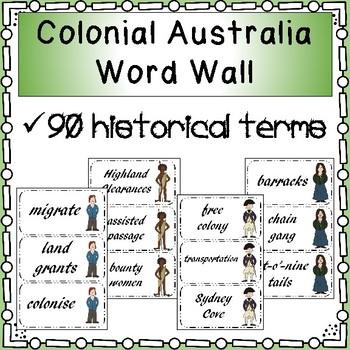 Colonial Australia Word Wall