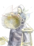 Colonial Basket Weaver Clipart