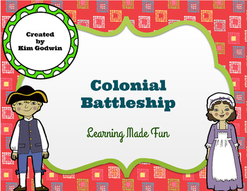 Colonial Battleship- Fun 13 Colonies Review Activity Game