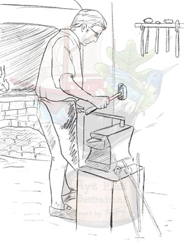 Colonial Blacksmith Clipart