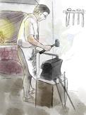 Colonial Blacksmith Clipart