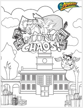 Colonial Chaos Coloring Page