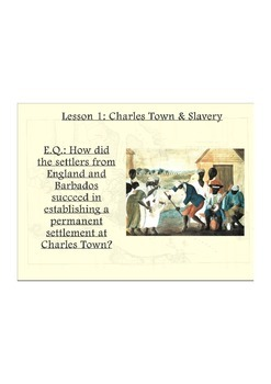 Colonial Charles Town and Slavery