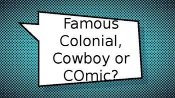 Colonial, Cowboy or Comic- Australian Nation AC Fun Quiz