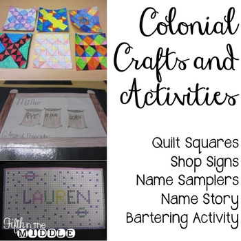 Colonial America Crafts And Activities For Upper Elementary Tpt