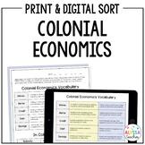 Colonial Economics Sorting Activity (VS.4)
